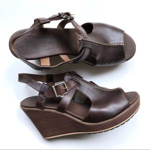 Timberland Earthkeepers Brown Leather Wedges